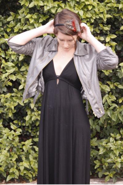 black Forever New dress - silver jacket
