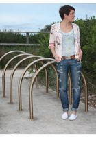 blue nobody jeans - white Sportsgirl shoes - blue Finders Keepers top - pink jac