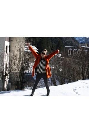 orange eco pelliccia coat