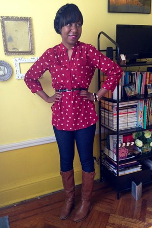 maroon modcloth blouse