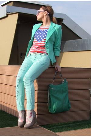 Ax London blouse - H&M wedges