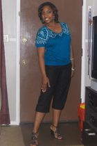 random brand from Ross Stores blouse - black Alfani pants - black Nine West shoe