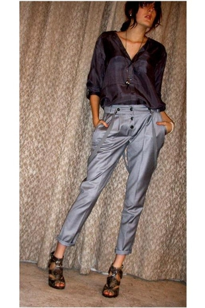 bay blouse - River Island pants - new look shoes