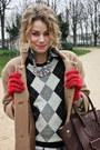 Camel-balenciaga-coat-black-j-crew-sweater-dark-brown-celine-purse