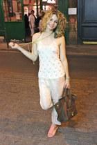 Celine bag - Max Mara top - Pour La Victoire sandals