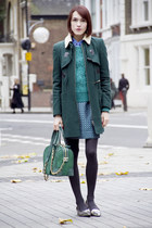 whistles coat - Alice  Olivia bag - whistles jumper - Kurt Geiger flats