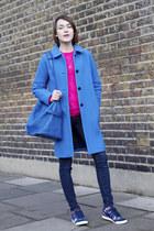 Boden coat - J Brand jeans - meli melo bag - Boden jumper