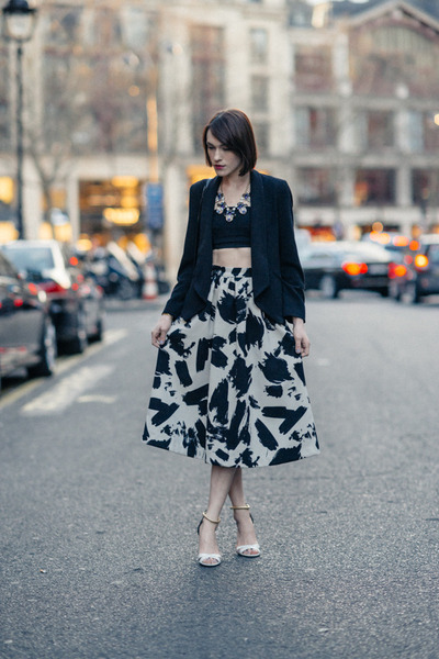 H&M skirt - whistles jacket - H&M top - Pollini sandals - JCrew necklace