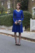 Matthew Williamson dress - Anya Hindmarch bag - Isabel Marant heels