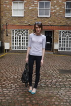 Anne Bowes Jewellery necklace - J Brand jeans - Mulberry bag