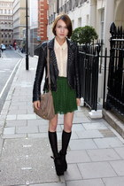 All Saints jacket - whistles bag - COS socks - Urban Outfitters skirt