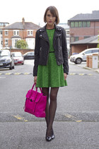 Maje jacket - Tibi dress - 31 Phillip Lim bag - Anne Bowes Jewellery necklace