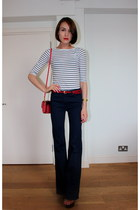 Topshop heels - Oliver Bonas bag - French Connection top - Topshop pants