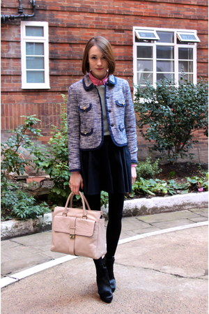 Mulberry bag - Hobbs boots - whistles jacket - Gap shirt - Topshop skirt