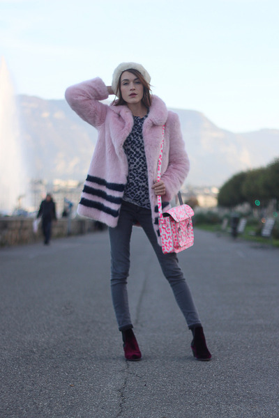 Shrimps coat - Penelope Chilvers boots - AG Jeans jeans - whistles sweater