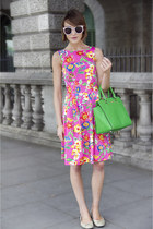 Michael Kors bag - Kate Spade NY dress - Karen Walker sunglasses