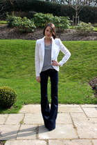J Brand jeans - J Brand blazer - Anne Bowe Jewellery necklace - J Brand top