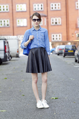 warehouse skirt - Topshop shirt - Fleming London bag