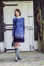 Hunter-boots-matthew-williamson-dress