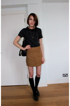 Topshop skirt - Marc by Marc Jacobs bag - H&M socks - whistles top