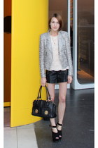 Zara jacket - Marc Jacobs bag - Topshop shorts - Anne Bowes Jewellery necklace