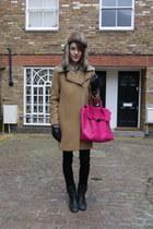 SANDRO coat - Gap boots - hudson jeans jeans - Maje hat - 31 Phillip Lim bag