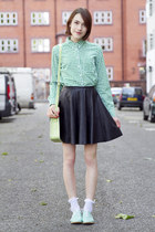 warehouse skirt - Gap shirt - Zatchels bag - Topshop flats