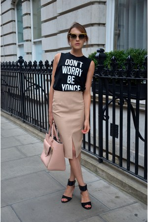 stylestalker top - Mulberry bag - Dsquared2 sunglasses - Baukjen skirt
