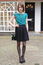 Topshop bag - Nanette Lepore blouse - whistles skirt - Isabel Marant heels