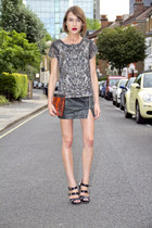 All Saints top - Kurt Geiger bag - Vince Camuto sandals - All Saints skirt