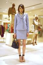 Carven jacket - Carven bag - Carven skirt - Marc by Marc Jacobs blouse