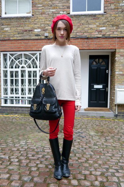 American Apparel hat - Massimo Dutti boots - Zara jeans - Mulberry bag