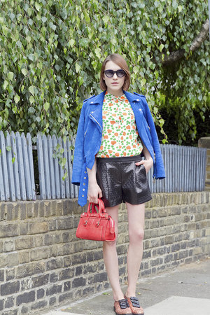 Club Monaco jacket - whistles shirt - Paul & Joe Sister bag - Tibi shorts