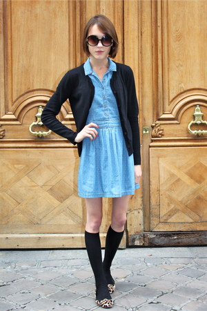 Topshop dress - H&amp;M socks - Topshop sunglasses - Gap cardigan