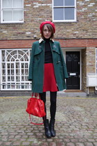 whistles coat - Massimo Dutti boots - American Apparel hat - Jaeger London bag