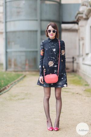 Valentino dress - Valentino bag - Mulberry heels