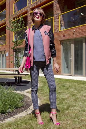 whistles jacket - Roger Vivier bag - Karen Walker sunglasses