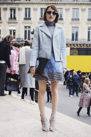 Stella McCartney bag - whistles jacket - banana republic sweater