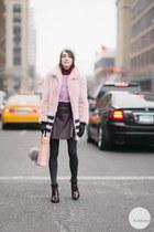Senso boots - Shrimps coat - Sophie Hulme bag - bella freud jumper