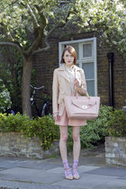 SANDRO jacket - Hobbs shirt - Club Monaco skirt - russell & bromley heels