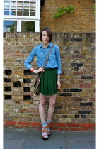 Topshop shirt - whistles bag - Urban Outfitters socks - Urban Outfitters skirt -