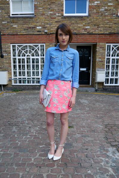 Topshop skirt - Topshop shirt - Kurt Geiger bag - Kurt Geiger flats