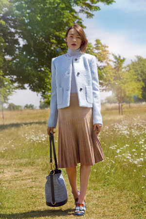 Mulberry jacket - Mulberry bag - Mulberry skirt - Mulberry loafers