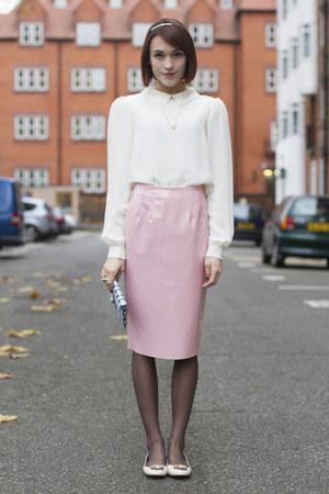 Topshop skirt - whistles bag - LK Bennett flats - Anne Bowes Jewellery necklace