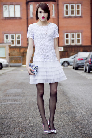 swarovski ring - redvalentino dress - Wilbur & Gussie bag