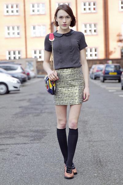 Markus Lupfer shoes - Angel Jackson bag - H&M skirt - whistles top