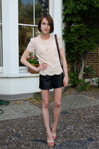 whistles bag - Topshop shorts - whistles top - Kurt Geiger sandals - Anne Bowes