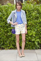 Gap jacket - Juicy Couture bag - Gap shorts - American Apparel t-shirt