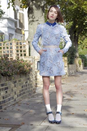 Self Portrait dress - Alberta Ferretti bag - Nicholas Kirkwood heels