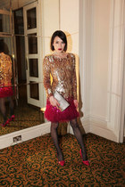Matthew Williamson dress - Mulberry accessories